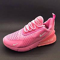 Женские кроссовки Nike Air Max 270 найк аир макс розовые / жіночі кросівки найк
