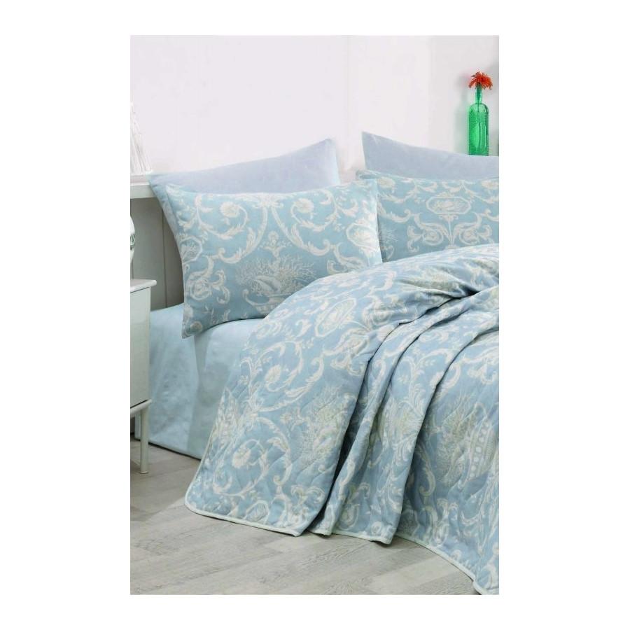 Покрывало 200х220 с наволочками на кровать, диван Мираж