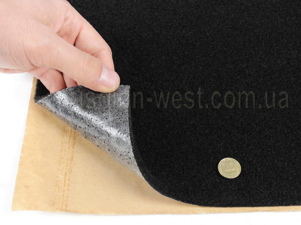Карпет чорний Преміум автомобільний самоклейка (лист 56х100см) товщина 5мм, щільність 550г/м2