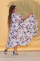 """Асимметричное платье-халат на запах """"Кэрри"""" с рукавами-крылышками (большие размеры), фото 3"""