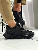 Женские кроссовки Balenciaga Track Trainer черные, Баленсиага Трек, код KS-9404