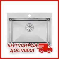 Мойка для кухни из нержавейки Imperial D5843 Handmade 3.0/1.2 mm (IMPD5843H12) прямоугольная под столешницу