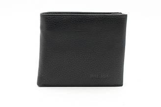 Портмоне мужской кожаный черный Balisa, кошелек на магните