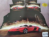 Сатиновое постельное белье евро 3D ELWAY S276