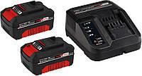 Зарядное устройство + 2 аккумулятора Einhell Power X-Change 18 V / 3,0 Ah Li-Ion (4512098)