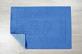 Коврик для ванной Lotus - 45*65 синий прорезиненный