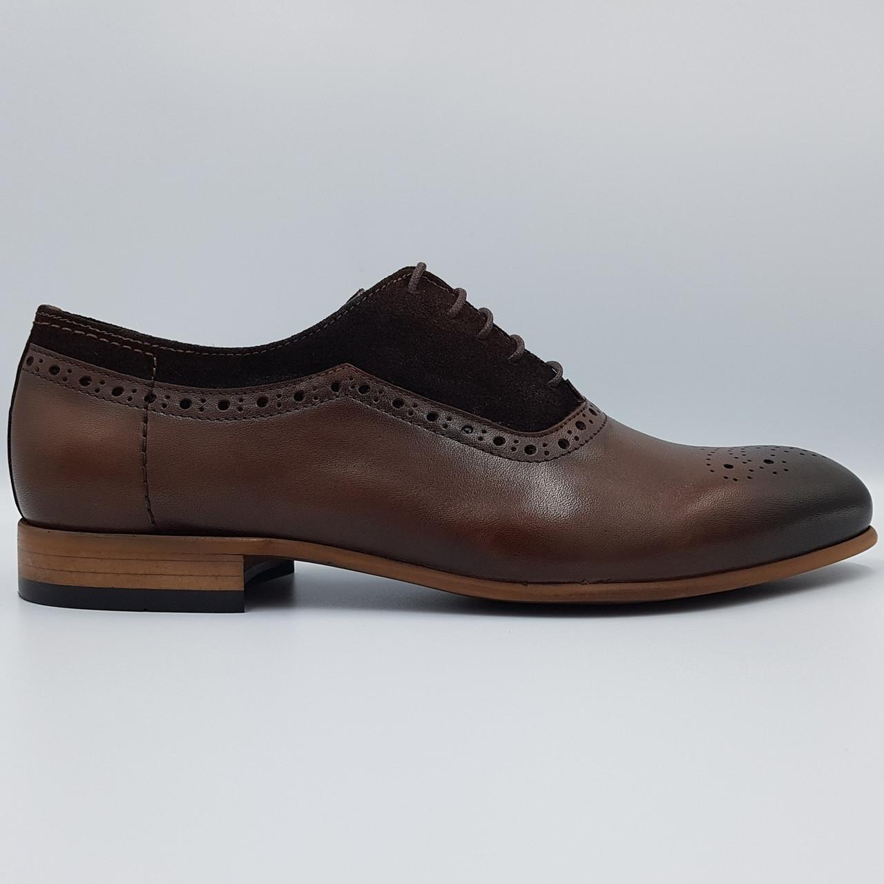Мужские туфли оксфорды Luciano Bellini коричневые SH0046/46