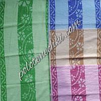 Махровое кухонное полотенце Две полосы