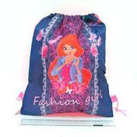 """Мешок для обуви JO-18095 """"Fashion girl"""" 39*30см  JO"""