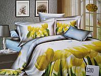 Сатиновое постельное белье евро 3D ELWAY S280