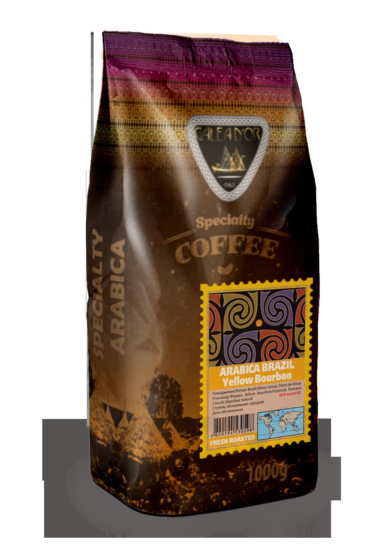 Зерновой кофе арабика Бразилия Желтый Бурбон