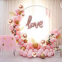 Арка из Воздушных Шаров Фотозона для Свадьб, Дня Рождения, Вечеринки, Дня Влюбленных, Юбилея Розовая