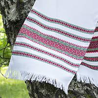 Рушник вышитый зеленая нитка под каравай 135 см
