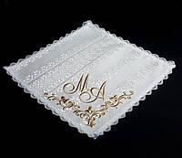 Салфетка под свадебные кольца