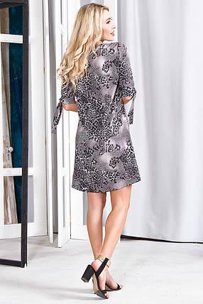 Платье 630 серый леопард, фото 2