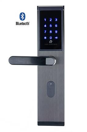 Автономный RFID замок SEVEN Lock SL-7735B Black, фото 2