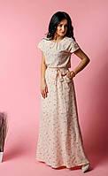 Длинное модное платье в пол из софта.