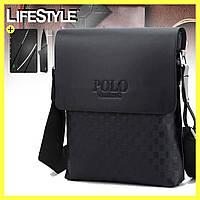 Мужская сумка через плечо Videng Polo / Кожаная мужская сумка + Визика-Нож в подарок