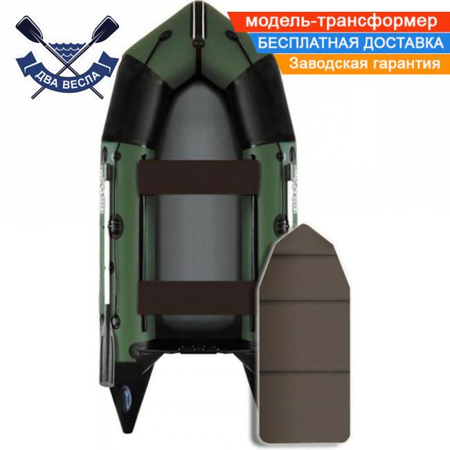 Моторная лодка Aqua Star C-330 четырехместная пол-книжка баллон 43 килеватость транца сливной клапан ПВХ 1100