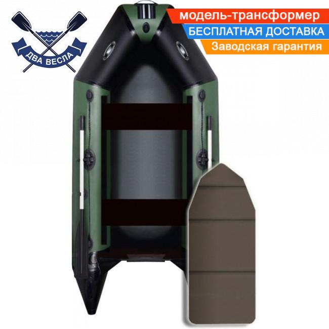 Моторная лодка Aqua Star D-275 двухместная слань книжка ПВХ 900 сливной клапан килеватость транца трансформер