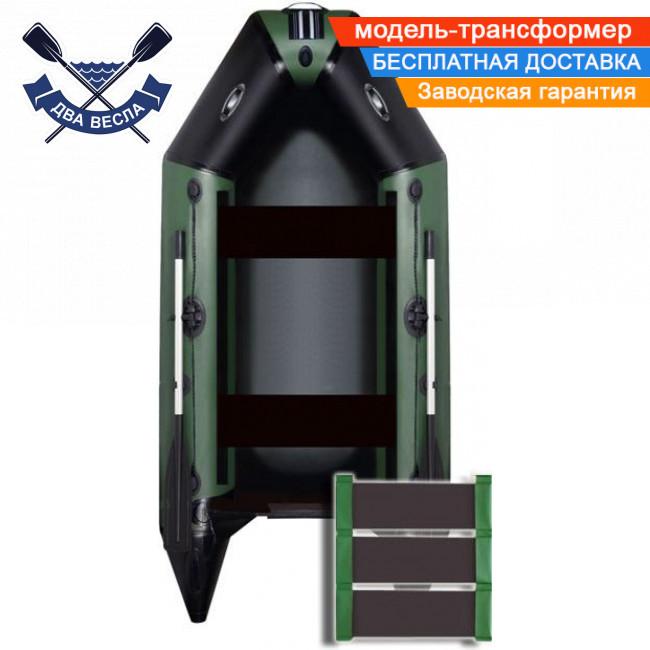 Моторний човен Aqua Star D-275 двомісна рейковий настил ПВХ900 зливний клапан килеватость транцем трансформер