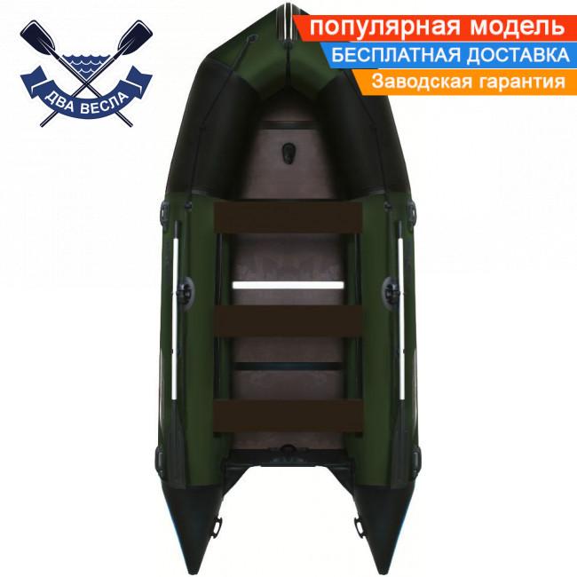 Кільової човен Aqua Star K-430 восьмимісний жорстке дно балон 53 три кильсона з посиленнями ПВХ 1100