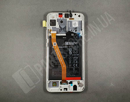 Дисплей Huawei P Smart plus White (02352BUK) сервисный оригинал в сборе с рамкой, акб и датчиками, фото 2