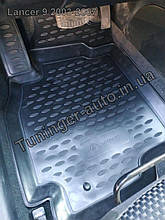 Коврики в салон Mitsubishi Lancer 9 2003-2009 4шт.комплект.(полиуретан) 3D.