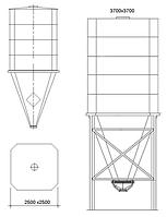 Бункер загрузочный с подвижным дном