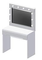 Стол визажиста белый/белый глянец (БРВ)