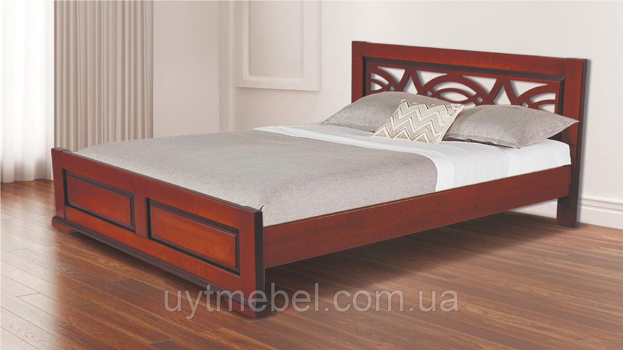 Ліжко Женева 1600х2000 без ніжок горіх (RoomerIN)
