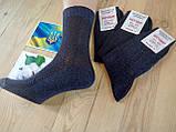 Носки мужские летнии с сеткой  100% хлопок 25 размер черные, фото 2
