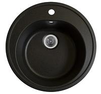 Мойка Luna 510 гранит матовая черный металлик (Platinum)