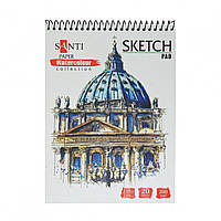Альбом для акварели А5  Travelling 20 л. 200 г/м.кв.  Paper Watercolor Collection Santi 742606