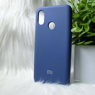 Силіконовий чохол Original Silicone case Xiaomi Mi8 Dark blue (темно-синій)