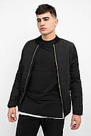 Куртка мужская стеганая весенняя осенняя Side x black / бомбер, фото 1