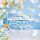 Арка-Гирлянда из Воздушных Шаров Фотозона для Дня Рождения, Свадьбы, Вечеринки, Юбилея, Выпускного Голубая, фото 3