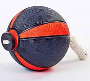 Медбол с веревкой Zelart Medicine Ball резина (FI-5709), фото 9