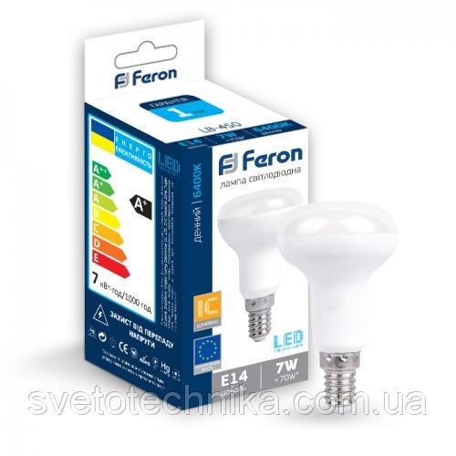 Светодиодная лампа  Feron LB450 E14 (R50) 7W 6400К