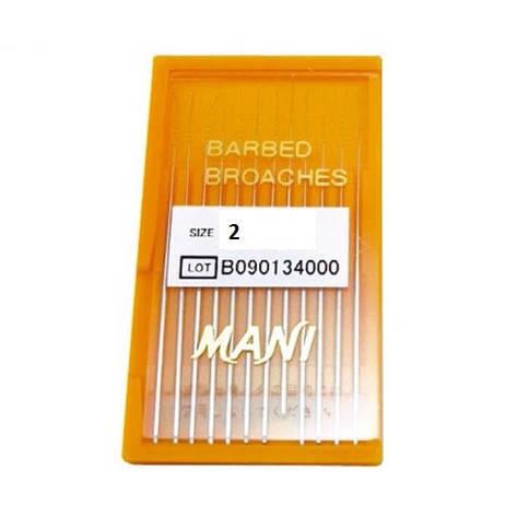 Barbed Broaches #2 - 52мм (12 шт.) пульпоекстрактори ручні, фото 2