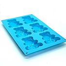 Силиконовая форма для выпечки в духовке Мишка Барни / Силіконова форма для випічки Ведмедик Барні (голубой), фото 3