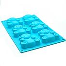 Силиконовая форма для выпечки в духовке Мишка Барни / Силіконова форма для випічки Ведмедик Барні (голубой), фото 2