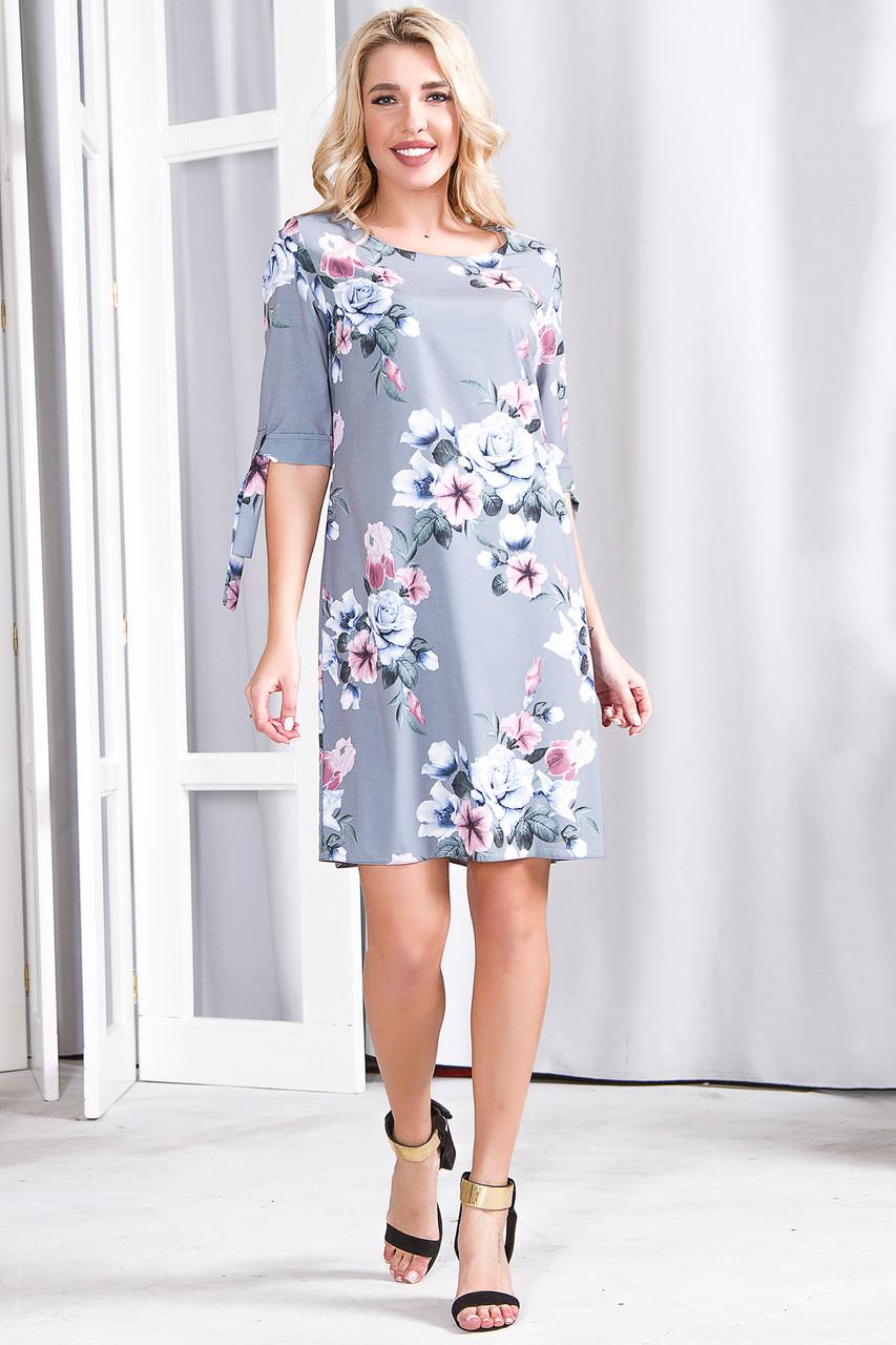 Платье 630 серая роза