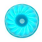 Силиконовая форма для выпечки (Пудинг, большой) голубой, фото 3