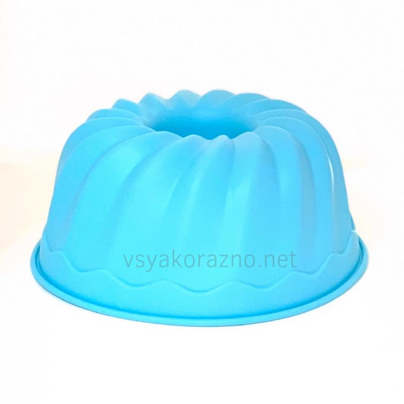 Силиконовая форма для выпечки (Пудинг, большой) голубой