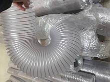 Армований шланг ПВХ д. 50-250мм для деревообробних верстатів,стружкопилососа товщ.0,5 мм, завод Rondo2, Польща