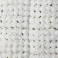 Белые розы для изготовления сувенирного мишки 100 шт