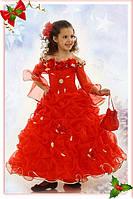 Нарядное платье Корзинка 1724 красная