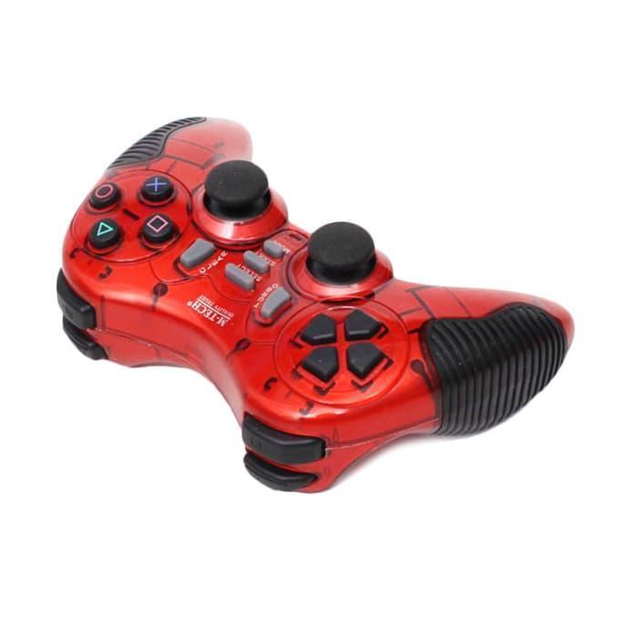 Многофункциональный джойстик Wireless для PS2 PS3 PC Android TV Box (красный)