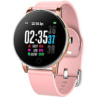 Умные часы фитнес браслет Lemfo Y9 с пульсометром и тонометром (Розовый), фото 1